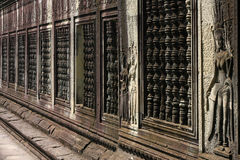Walls of Angkor Wat Stock Image