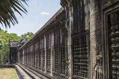 Walls of Angkor Wat Royalty Free Stock Photo