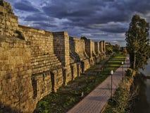 Walls of Arab fortress in Merida Royalty Free Stock Image
