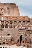 Walls and arcs inside Colosseum at Rome. Italy Stock Photos