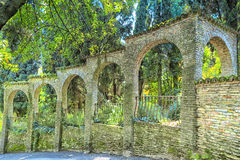 Walls around a garden in Sirmione Stock Photography
