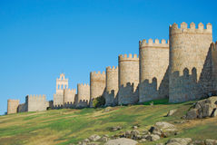 Walls of Avila Royalty Free Stock Images