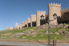 Walls of Avila Stock Image