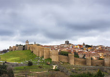 The walls of Avila, Castilia, Spain Stock Image