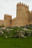 Walls of Avila stock image