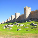 Walls of Avila Stock Images