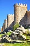Walls of Avila Stock Photography