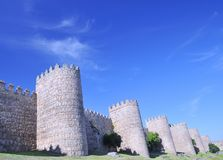Walls of Avila, Spain. Stock Photos
