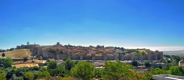Walls of Avila (Spain) Stock Image