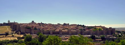 Walls of Avila (Spain) Royalty Free Stock Photo