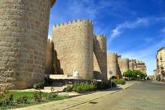 Walls of Avila (Spain) Royalty Free Stock Photos