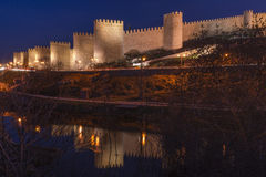 Walls of Avila (Spain) Stock Images