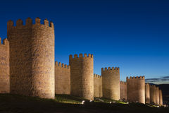 Walls of Avila (Spain) Stock Photo