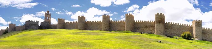 Walls of Avila. Stock Image