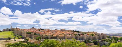 Walls of Avila. Stock Photo