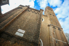 Walls of Basilica dei Frari Royalty Free Stock Image