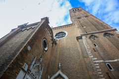 Walls of Basilica dei Frari in Venice Royalty Free Stock Photos