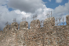 Walls with battlements Royalty Free Stock Images