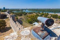 Walls of  Belgrade fortress Stock Photo