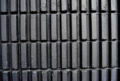 Walls. Black walls a vertical rectangular blocks, arranged in a row Stock Photo