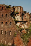 Walls of the blasted house. Fortress Oreshek Shlisselburg Royalty Free Stock Image