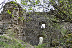 Walls from the Bologa medieval fortress. Stock Photos