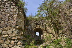 Walls of the Bologa medieval fortress. Royalty Free Stock Image