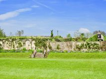 Walls and borders. Dewstow Gardens Caerwent Caldicot Wales united kingdom royalty free stock photography