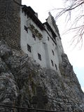 Walls of Bran castle, Transylvania royalty free stock images