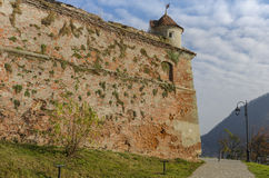 Walls of Brasov Medieval Citadel,  Romania Stock Photos