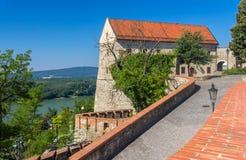 Walls of Bratislava Castle, Slovakia Stock Photo