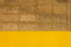 Walls of brown clay. Stock Photography