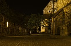 Within the walls of Buda Castle Stock Image