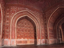 Walls of building in taj mahal mausoleum Royalty Free Stock Images