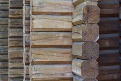 Walls built of logs Stock Photo