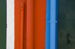 Walls of Burano, Venice. The colors of the walls of Burano, Venice, Italy Stock Photo