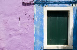 Walls of Burano, Venice Stock Image