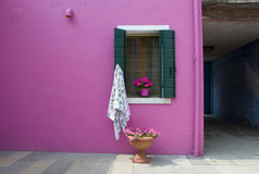 Walls of Burano, Venice Stock Photos