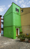 Walls of Burano, Venice Stock Images