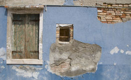 Walls of Burano, Venice Royalty Free Stock Photos