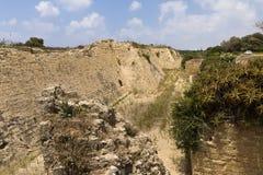 Walls of Caesarea Stock Images