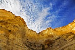 The walls of a canyon shined by the spring sun Royalty Free Stock Photos
