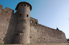 Walls of Carcassonne Stock Photo