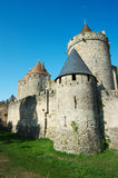 Walls of Carcassonne Royalty Free Stock Photos