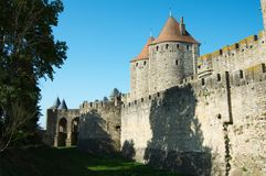 Walls of Carcassonne Stock Images
