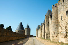 Walls of Carcassonne Stock Photography