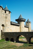 Walls of Carcassonne Royalty Free Stock Photography