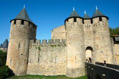 Walls of Carcassonne Royalty Free Stock Image