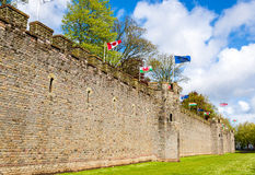 Walls of Cardiff Castle - Great Britain Stock Photography