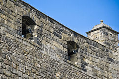 Walls. The walls of the castle with cannons Royalty Free Stock Image